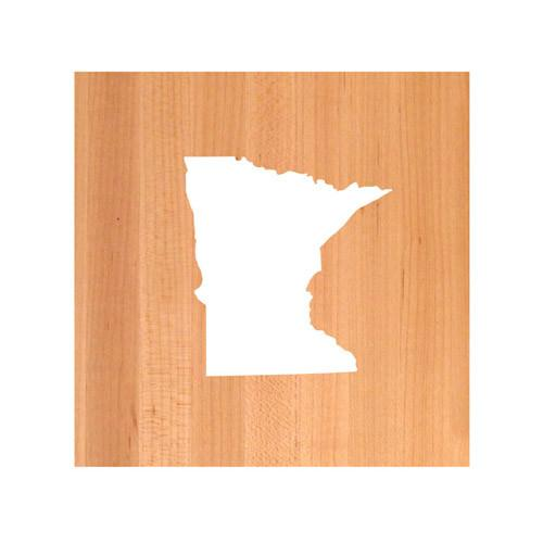 Minnesota State Cutting Board TRIVET - Minnesota shaped cutting board
