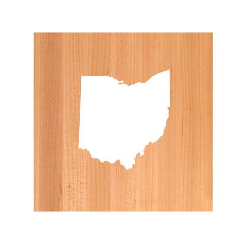 Ohio State Cutting Board TRIVET - Ohio shaped cutting board