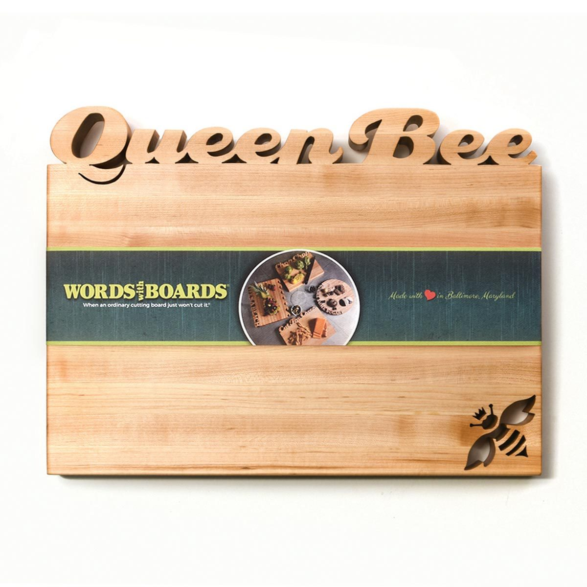 Cutting Board ~ Queen Bee - Words with Boards  - 1