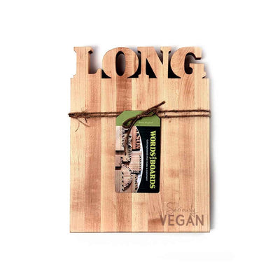 Vegan products - custom cutting board - words with boards
