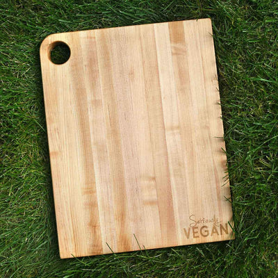 SERIOUSLY  VEGAN ~ Large Cutting Board