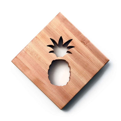 WOODEN TRIVET - PINEAPPLE