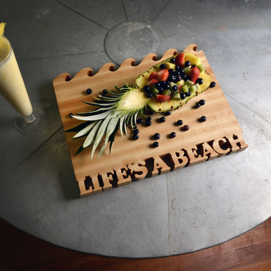 Cutting board - Life's a beach - Life is a beach with waves - Words with Boards - 2