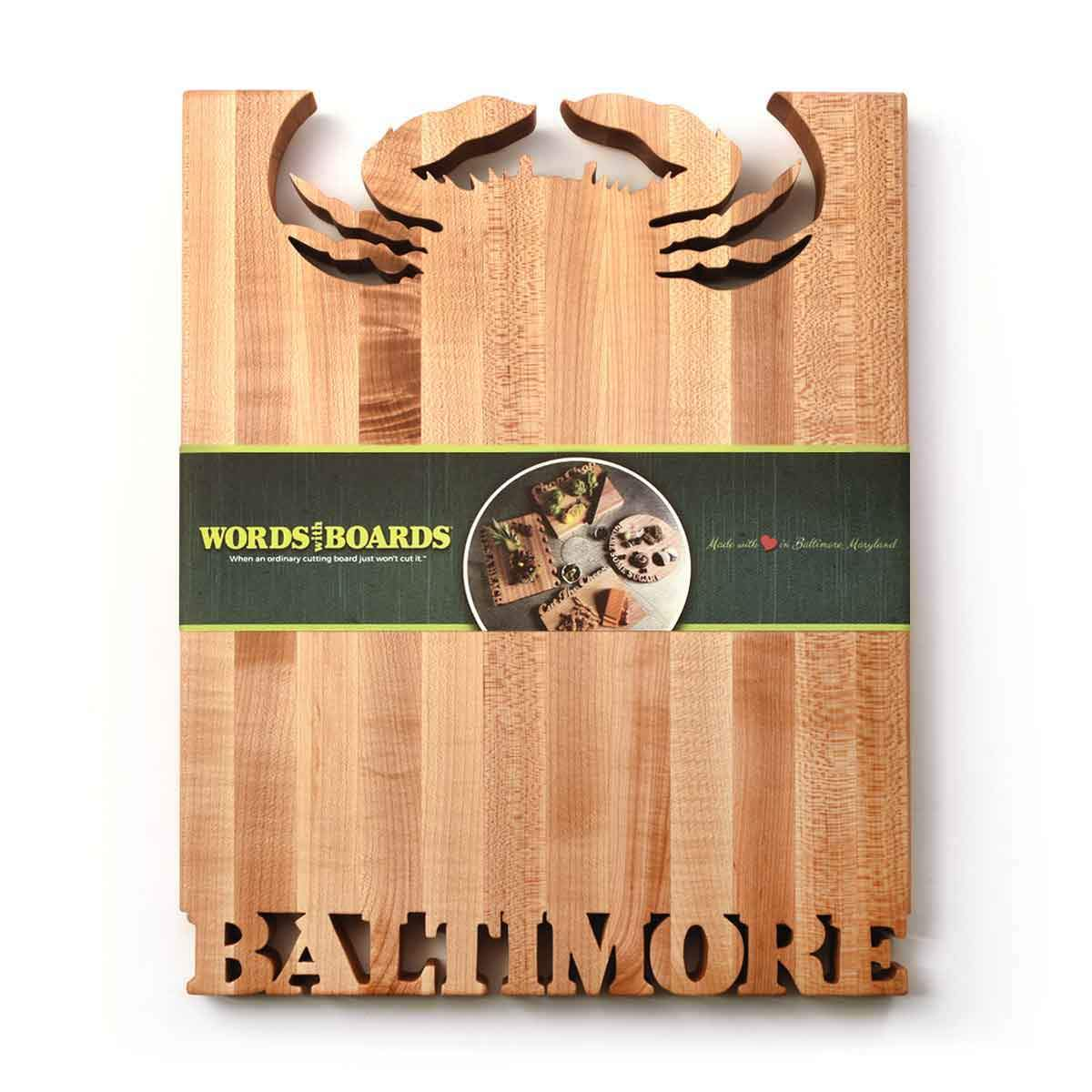 Wood cutting boards for CRAB/BALTIMORE - Words with Boards - 2