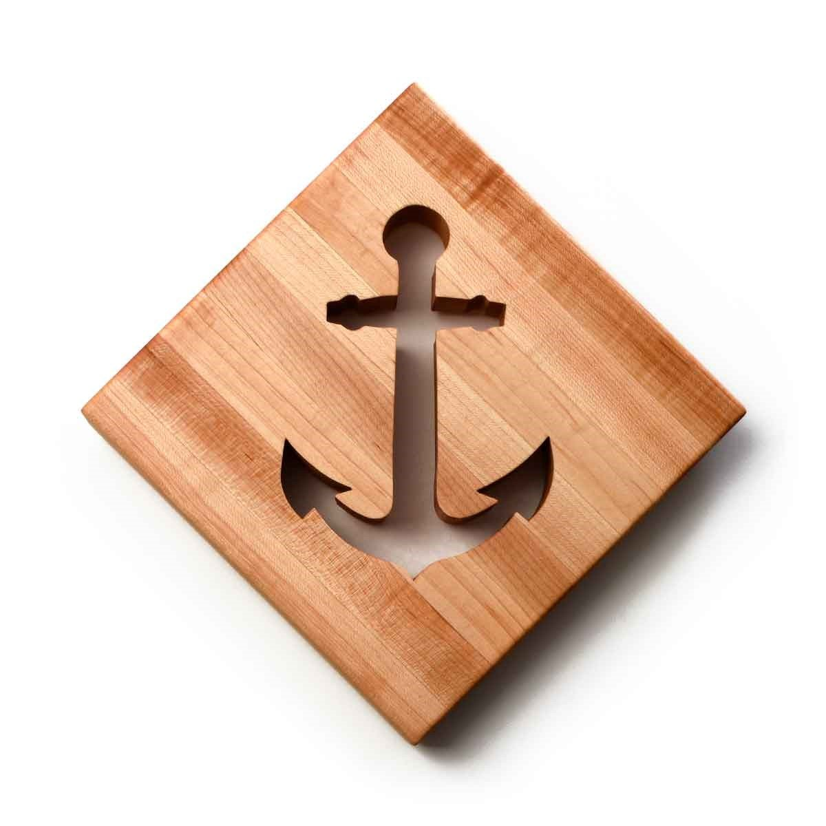 WOOD TRIVET, ANCHOR