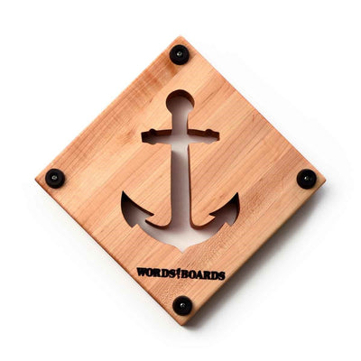 WOOD TRIVET - ANCHOR