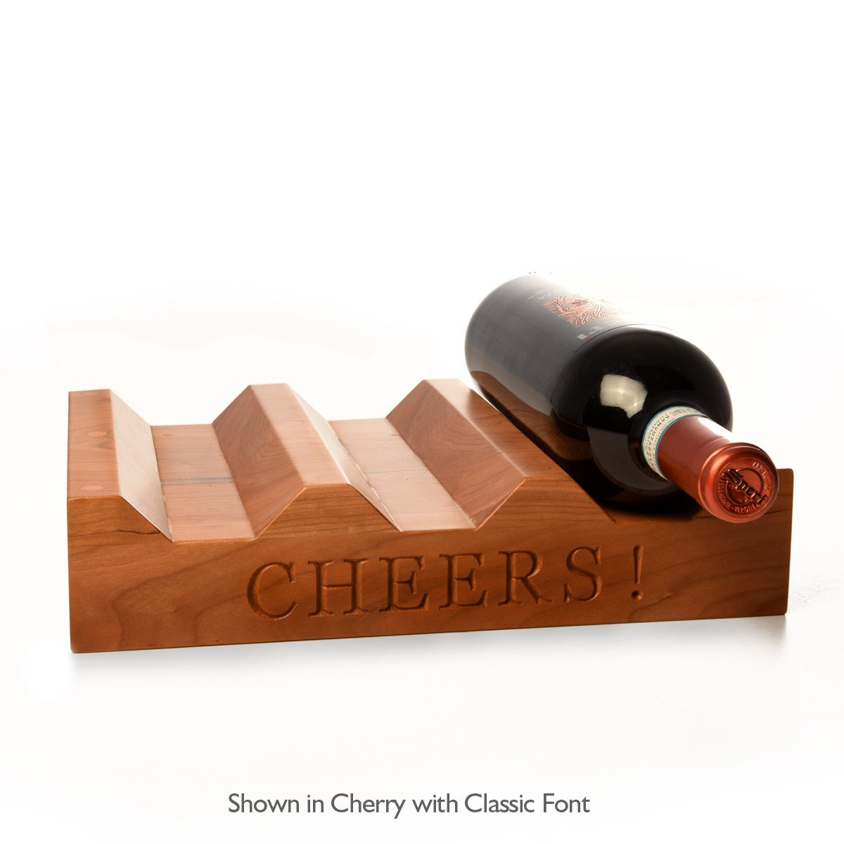 Wood Wine Rack ~ CHEERS! - Words with Boards  - 1