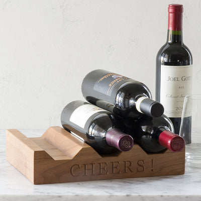 Wood Wine Rack ~ CHEERS! - Words with Boards  - 3