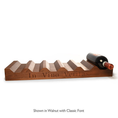 Wood Wine Rack ~ In Vino Veritas - Words with Boards  - 1
