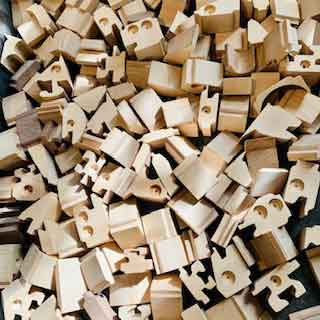 WOODEN TOYS - all pieces shown in packaging