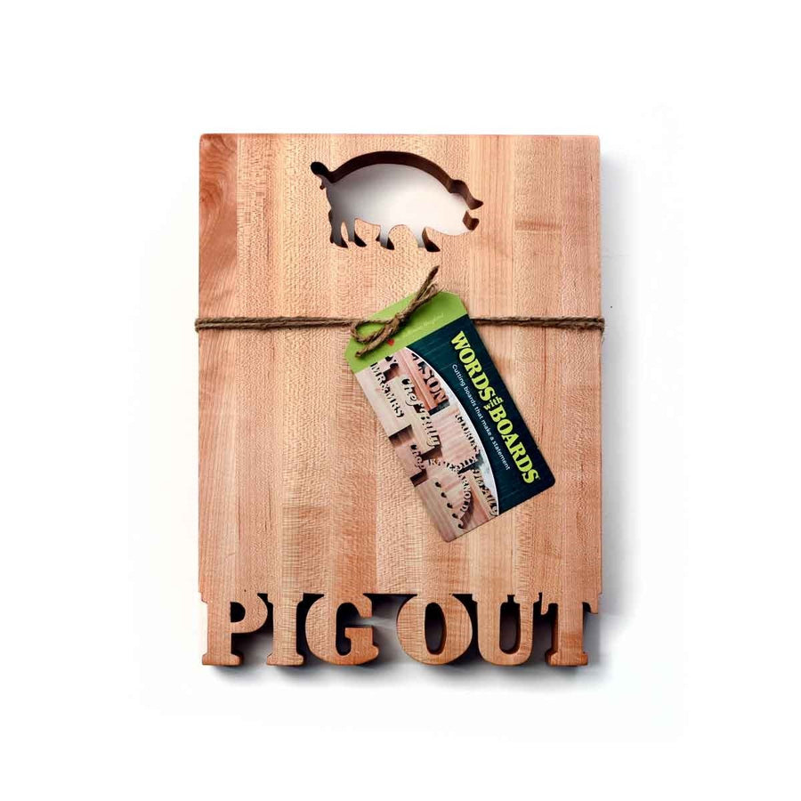 """Pig Out"" Cutting Board"