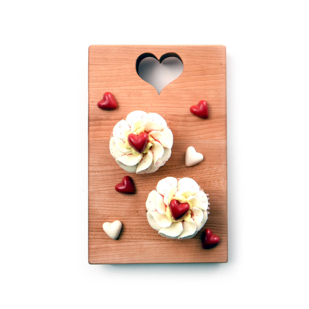 heart chopping board, heart shape cut out of top, wooden cutting board