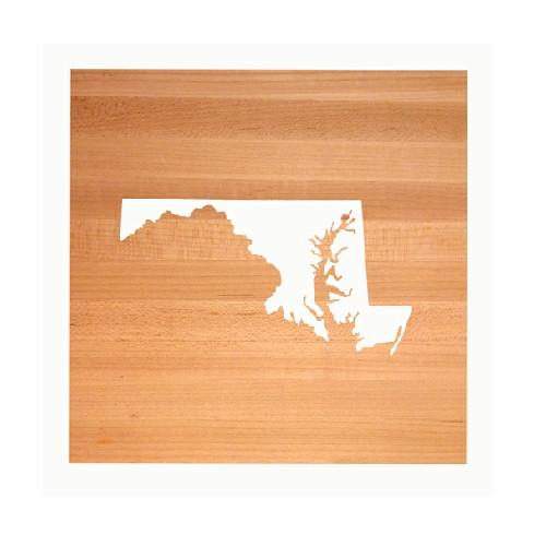 Maryland State Cutting Board TRIVET - Maryland shaped cutting board