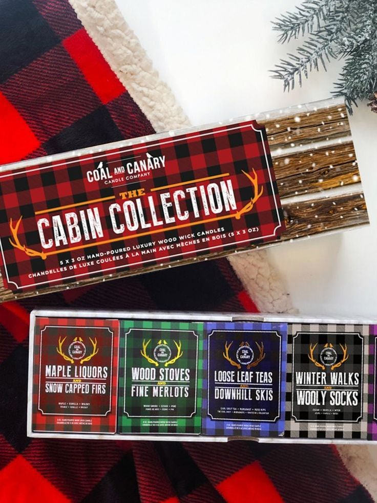 CABIN COLLECTION BOX SET CANDLES