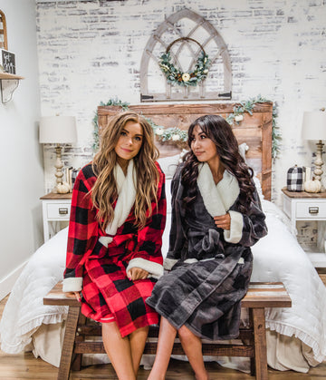 LAZY ONE PLAID WOMEN'S ROBE