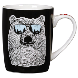 BEAR WEARING SHADES MUG