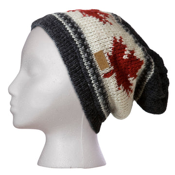 WOOL MAPLE LEAF TOQUE