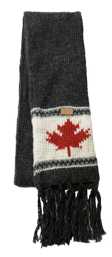 WOOL MAPLE LEAF SCARF