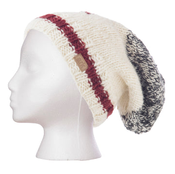 WOOL CABIN KNIT SLOUCHY TOQUE