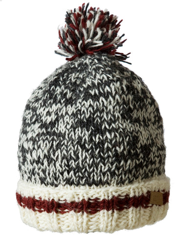 WOOL CABIN KNIT POM POM TOQUE