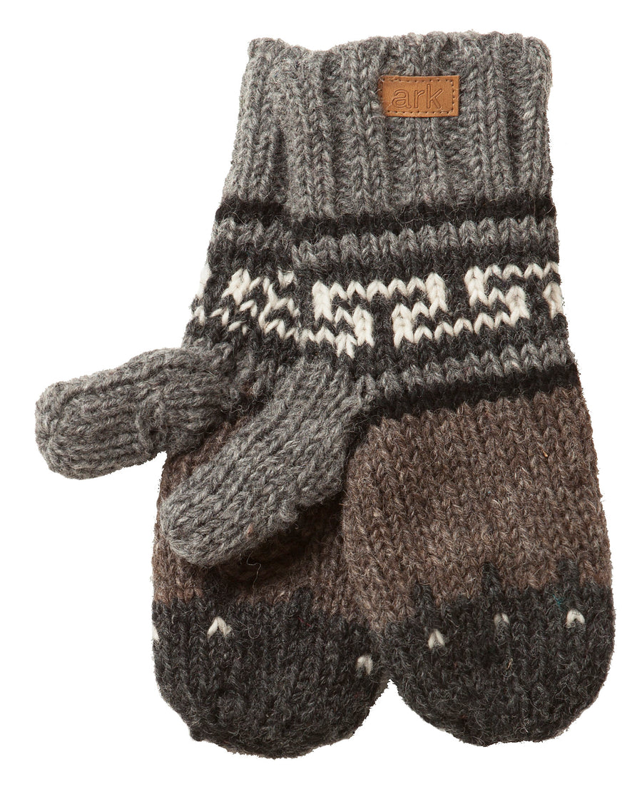 WOOL TEXTING MITTS