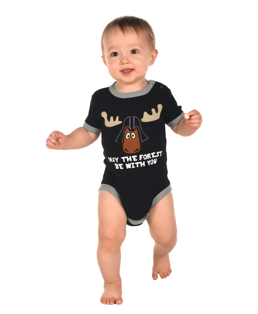 LAZY ONE MAY THE FOREST INFANT ONESIE
