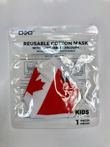 CANADA FLAG KIDS FACE MASK