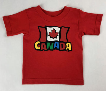 CANADA FUNKY FLAG TODDLER TEE