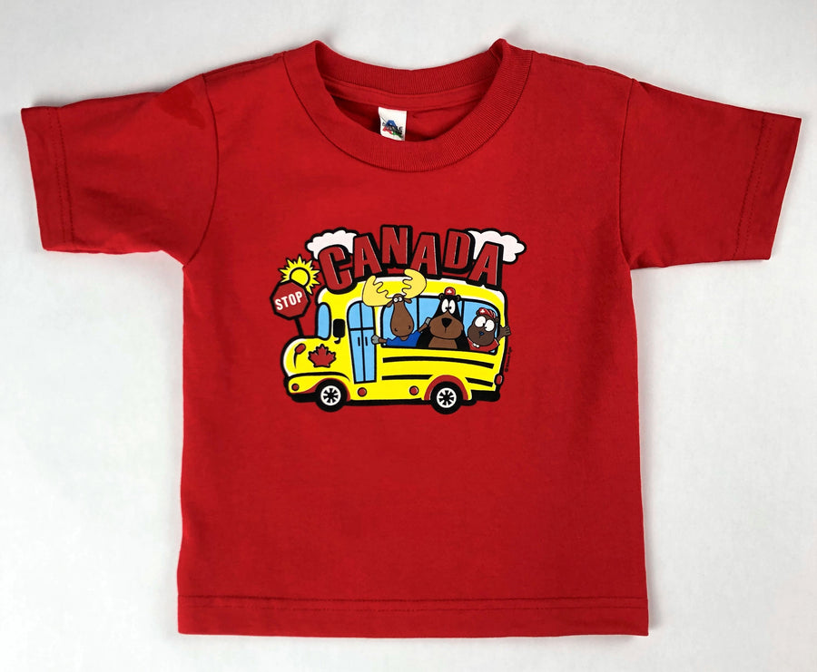 CANADA SCHOOL BUS TODDLER TEE