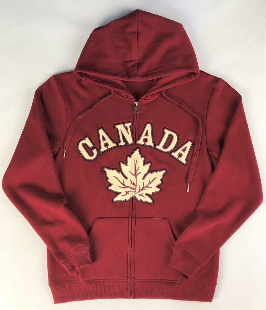 MAPLE LEAF ZIP UP HOODIE