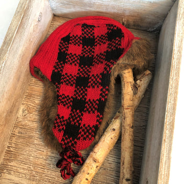 WOOL BUFFALO PLAID TRAPPER HAT