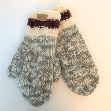 WOOL CABIN KNIT MITT