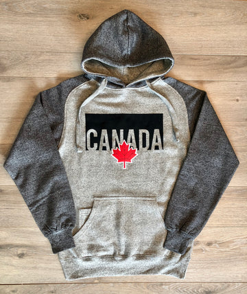 EMBROIDERED MAPLE LEAF CANADA HOODIE