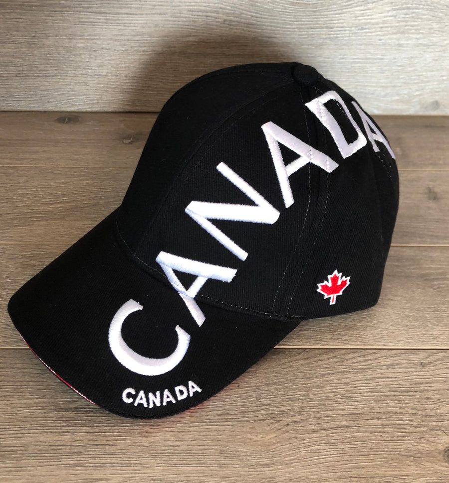 VERTICAL EMBROIDERED CANADA HAT