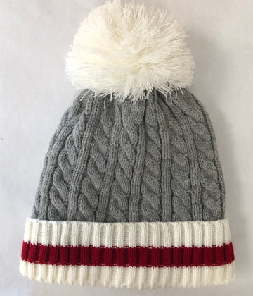 CABLE KNIT POM POM CABIN TOQUE