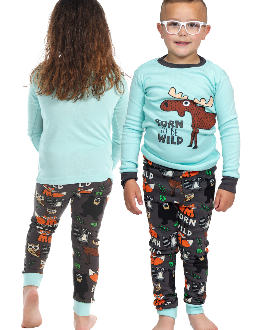 LAZY ONE BORN TO BE WILD KIDS PJ SET