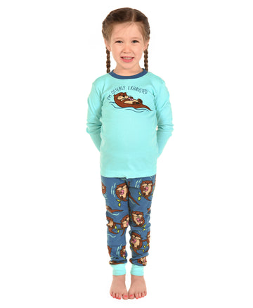 LAZY ONE OTTERLY EXHAUSTED PAJAMA SET
