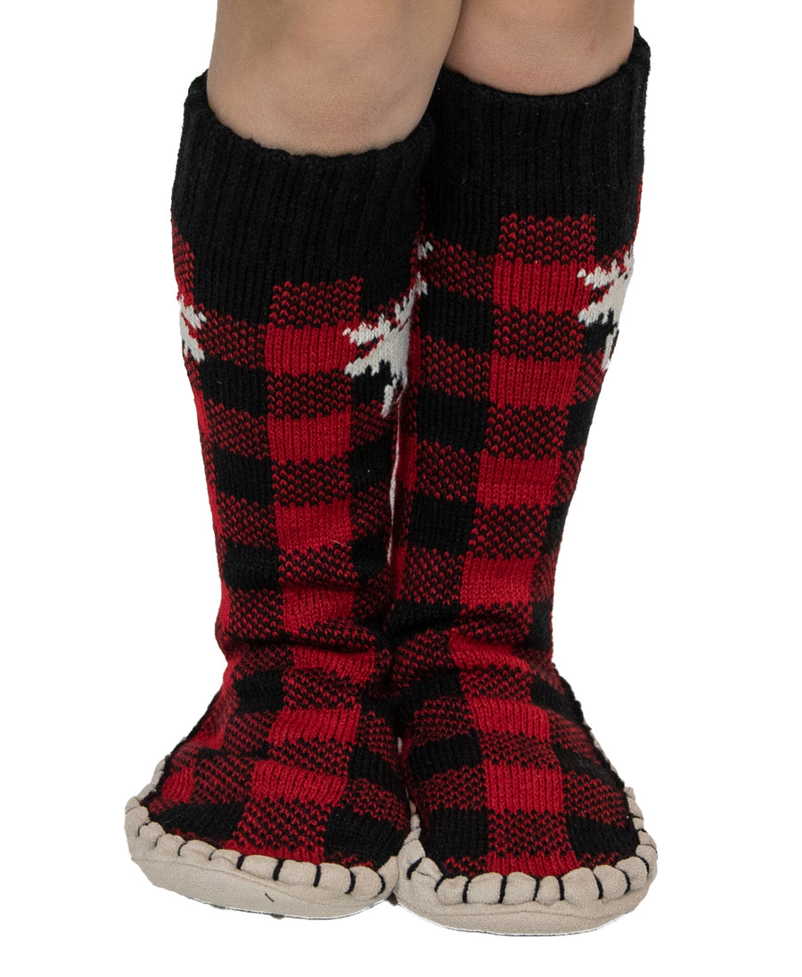 LAZY ONE MOOSE PLAID MUKLUKS