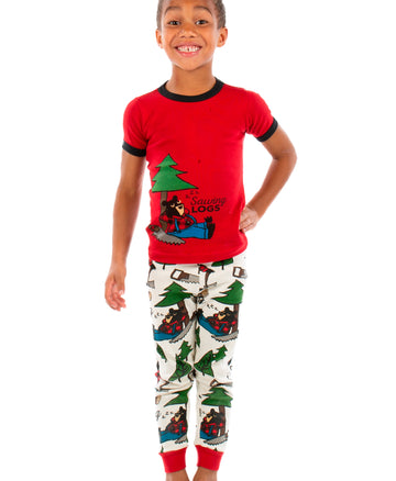 LAZY ONE SAWING LOGS KIDS PJ SET