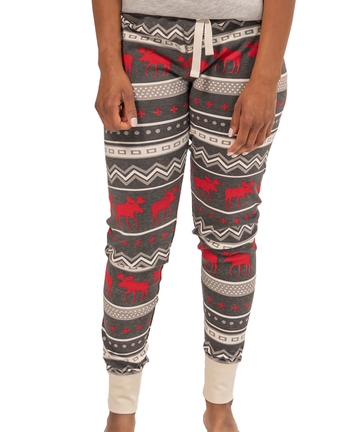 LAZY ONE CABIN MOOSE PJ LEGGING