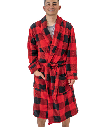 LAZY ONE PLAID MENS ROBE
