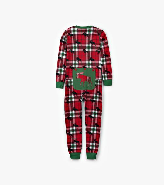 LITTLE BLUE HOUSE HOLIDAY PLAID KIDS ONESIE