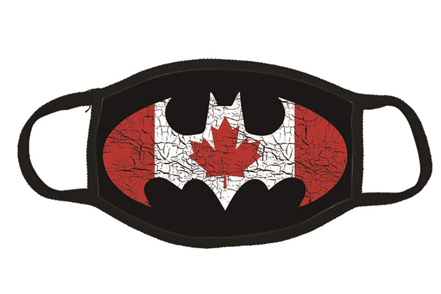 BAT IN CANADIAN FLAG FACE MASK