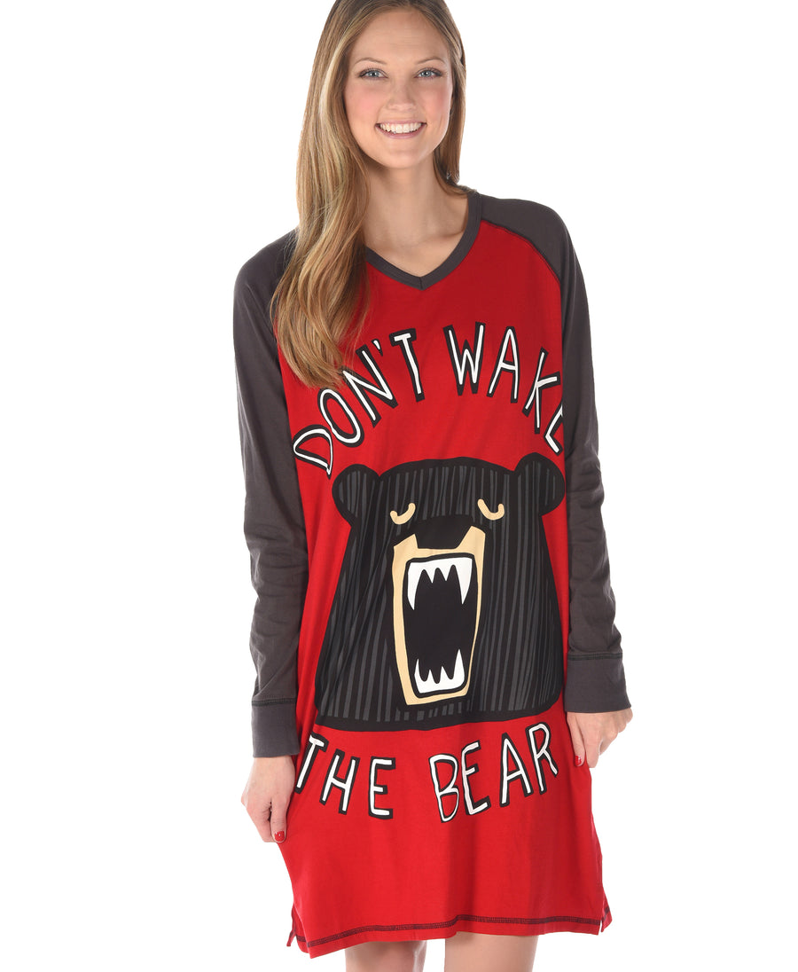 LAZY ONE DON'T WAKE THE BEAR NIGHTSHIRT