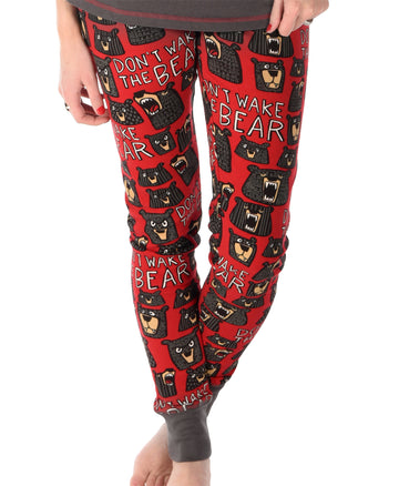 LAZY ONE DON'T WAKE THE BEAR PJ LEGGING