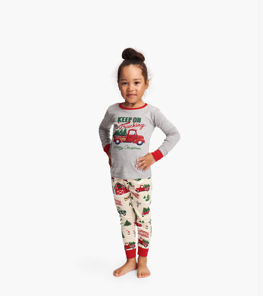 LITTLE BLUE HOUSE COUNTRY CHRISTMAS KIDS PJS