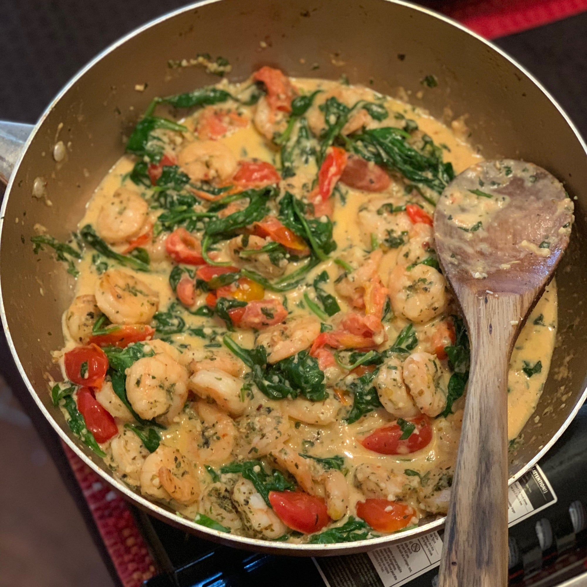 Garlic and Butter Tuscan Shrimp
