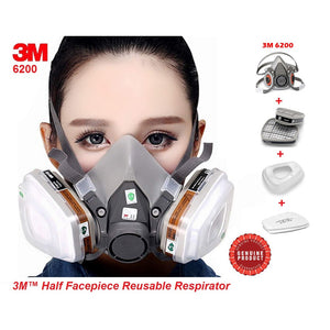 3M-6200 Series HALFACE MASK with CARTRIDGE 6003