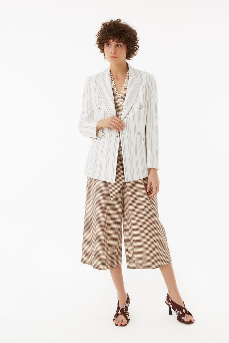 Exquise Jacket Classic Stripe Off White - Wardrobe Fashion