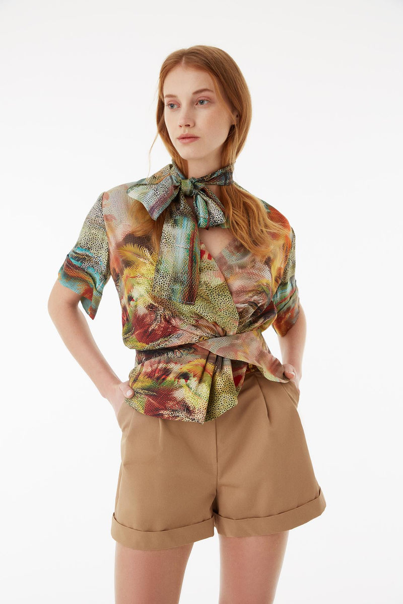 Exquise Blouse Print S/Sl Print - Wardrobe Fashion
